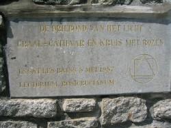 Inscripción en el monumento Galaad